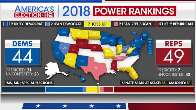 Seven toss up states in battle for Senate control