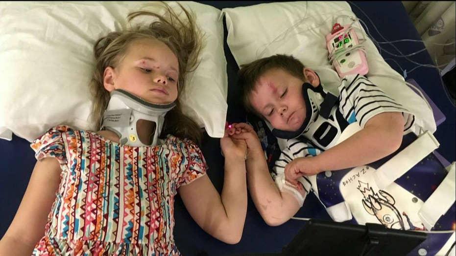 Siblings reunited after horrific car crash