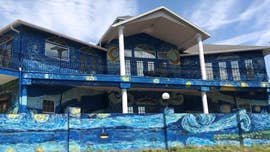 "Florida couple were fined thousands of dollars for painting the outside of their home to mirror Vincent van Gogh's ""The Starry Night."""
