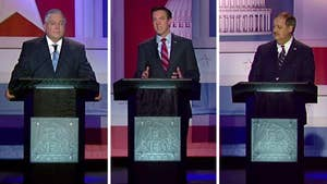 Republican Senate hopefuls debate devotion to President Trump, political hypocrisy and whether they support Sen. Mitch McConnell as Republican leader of the Senate, from Morgantown, West Virginia.