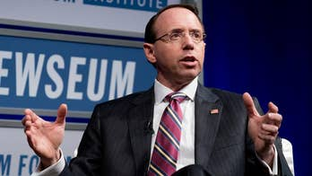 House Freedom Caucus members say Rosenstein impeachment document is 'last resort'; chief congressional correspondent Mike Emanuel reports from Washington.
