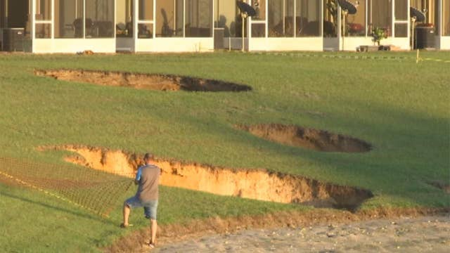 Multiple sinkholes open up, force evacuations in Florida