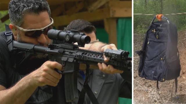 Bulletproof backpacks put to the test