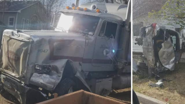 Police say man used stolen big-rig as a weapon