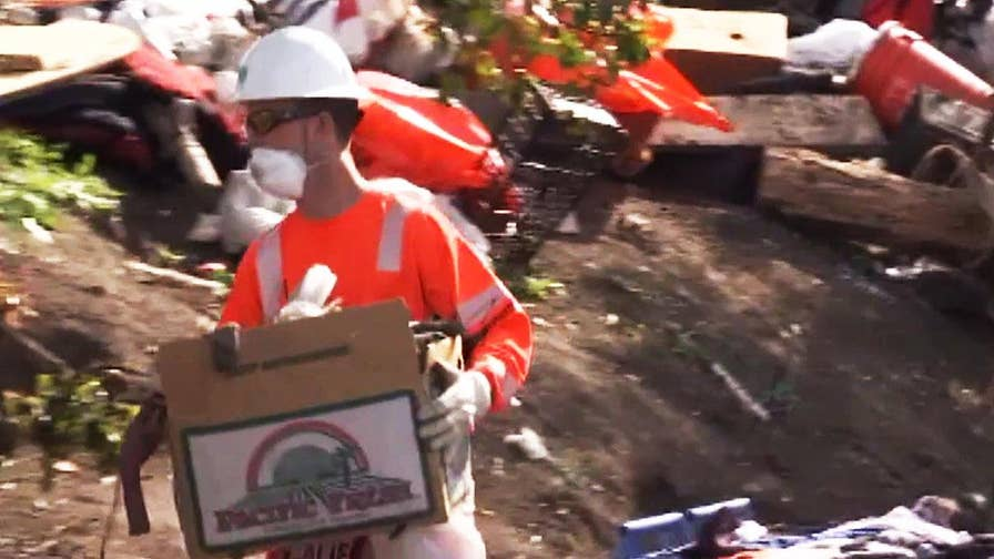 California highway maintenance workers express safety concerns dealing with homeless cleanup.