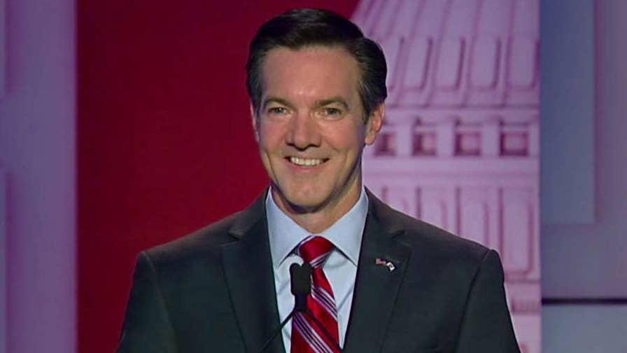 Republican congressman says he's not part of the establishment at Fox News West Virginia GOP Senate primary debate.