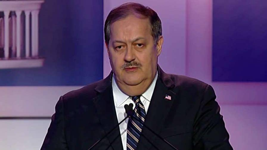 Republican Senate hopeful and former Massey Energy CEO says the government blamed coal miners for not doing their jobs.