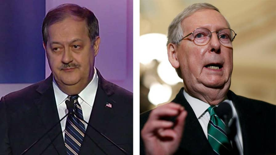 Having called the Senate majority leader 'cocaine Mitch,' Republican Senate candidate and former CEO for Massey Energy Don Blankenship says he doesn't want to go to D.C. to 'get along' but to get things done.