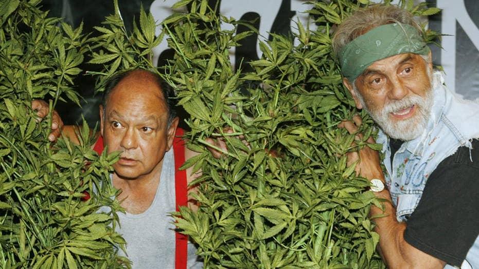 Peeing in smoke herbs