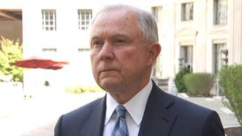 Speaking to reporters, Attorney General Jeff Sessions announces plan to send more immigration judges and U.S. attorneys to the border to process illegal entries.