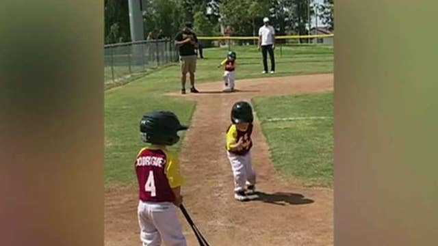 Little boy's slow motion home run trot goes viral
