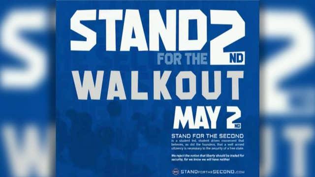 Pro-Second Amendment students plan walkouts