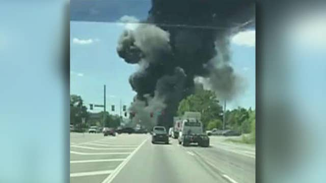 Military cargo plane crashes in Savannah, Georgia