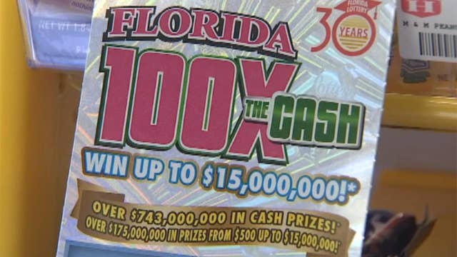 Florida man wins his second $1 million lottery prize
