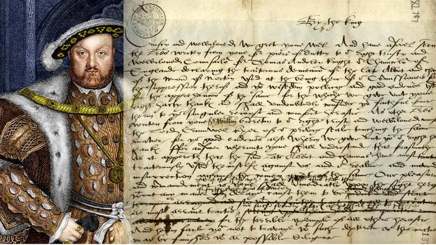 The bloodthirsty draft of a letter by King Henry VIII in which he demands a monk's violent death is set to go on public display.
