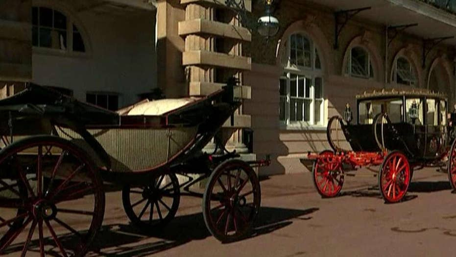 Royal wedding horses and carriages unveiled