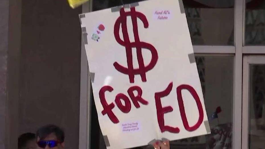 Striking teachers demand pay raises, more classroom funding