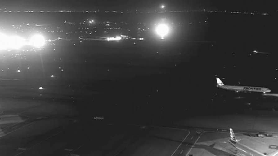 NTSB video shows the close call an Air Canada flight had when it almost landed on a runway filled with jets at San Francisco International Airport.