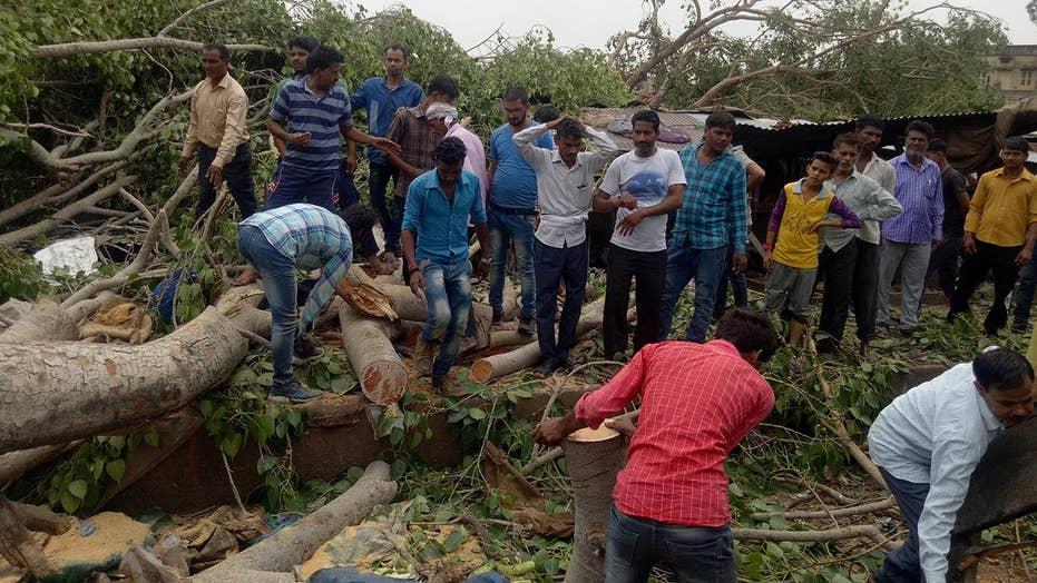 India rainstorm kills at least 91, injures more than 160