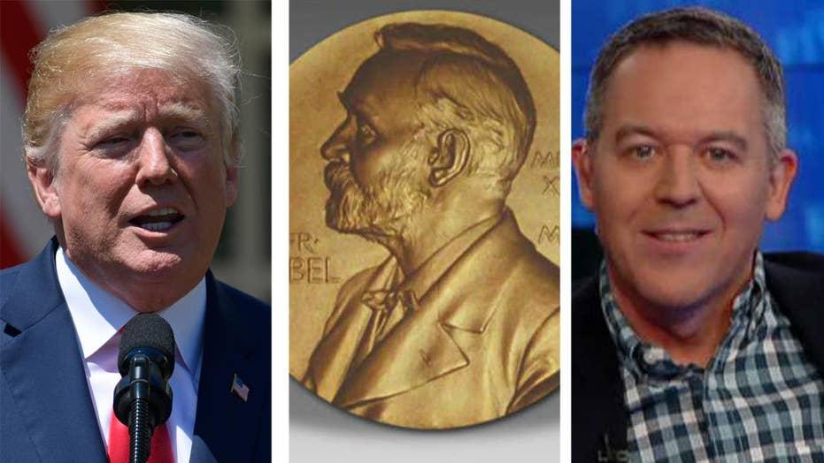 Gutfeld on Trump's Nobel prize nomination