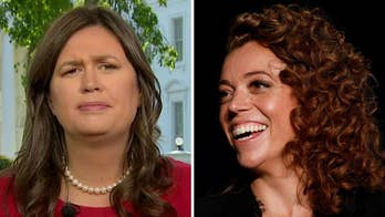 White House Press Secretary Sarah Sanders hopes comedian can find happiness because she thinks Michelle Wolf might need more of that in her life.