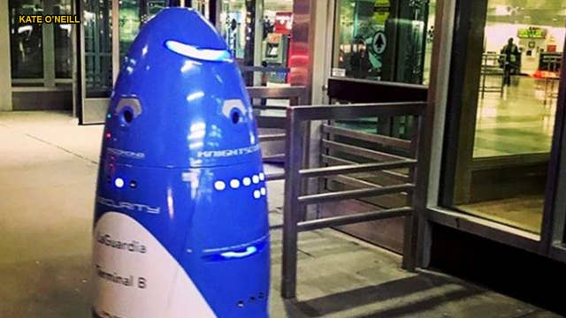 Women, security think LaGuardia's robot is ogling them