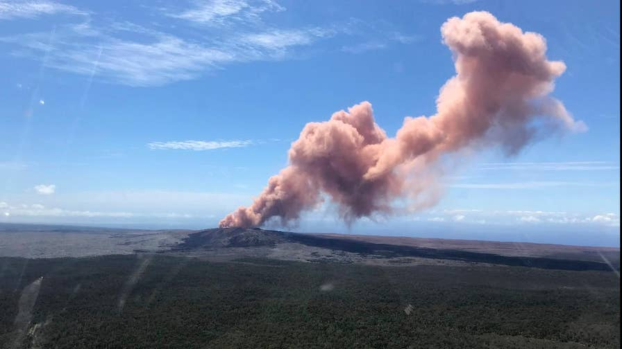 Kilauea volcano erupted after hundreds of earthquakes shook the island during the week.