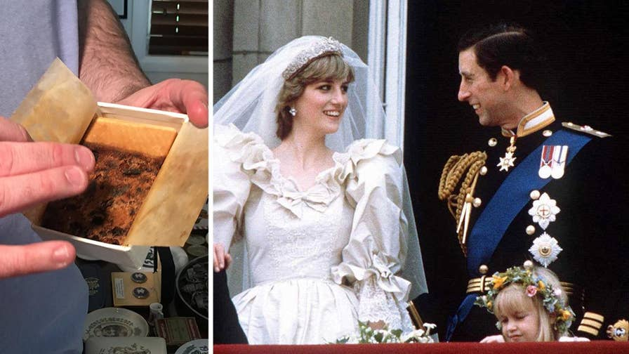 Julien's Auctions prepares for the sale of five pieces of cake, including slices from Prince Charles and Princess Diana's 1981 wedding and Prince William and Kate Middleton's 2011 celebration.