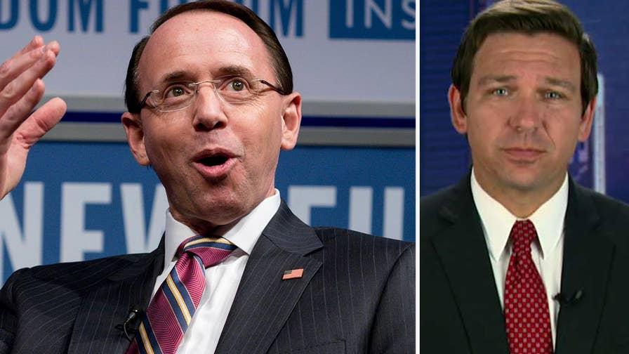 Florida Congressman Ron DeSantis joins 'Your World' with insight on Deputy Attorney General Rosenstein's handling of the Mueller probe.