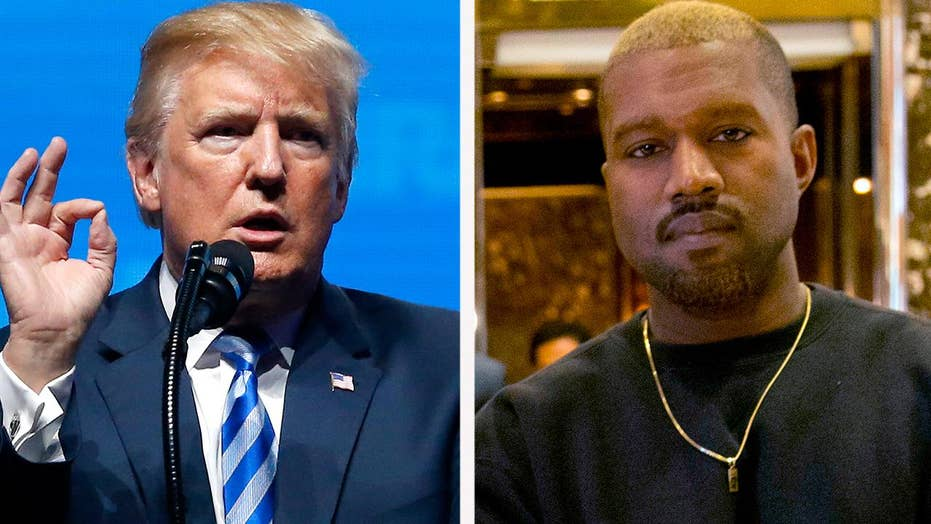 Trump thanks Kanye West for surging poll numbers