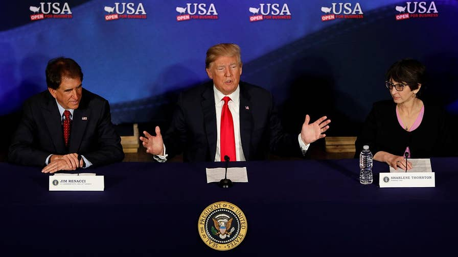 Trump discusses upcoming North Korea meeting, trade deficits, immigration and economic policy at tax reform event in Cleveland, Ohio.