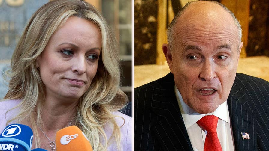 Giuliani sought to clarify his claim that Trump reimbursed lawyer for Stormy Daniels' settlement; reaction on 'America's News HQ.'
