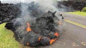 Hawaii residents have been evacuated and at least five homes have been destroyed.