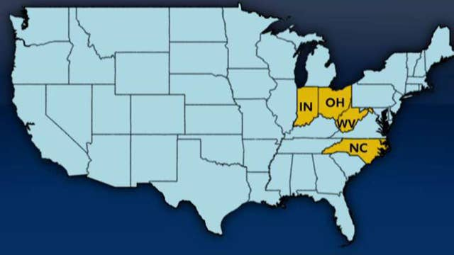 Four states to hold primaries on May 8