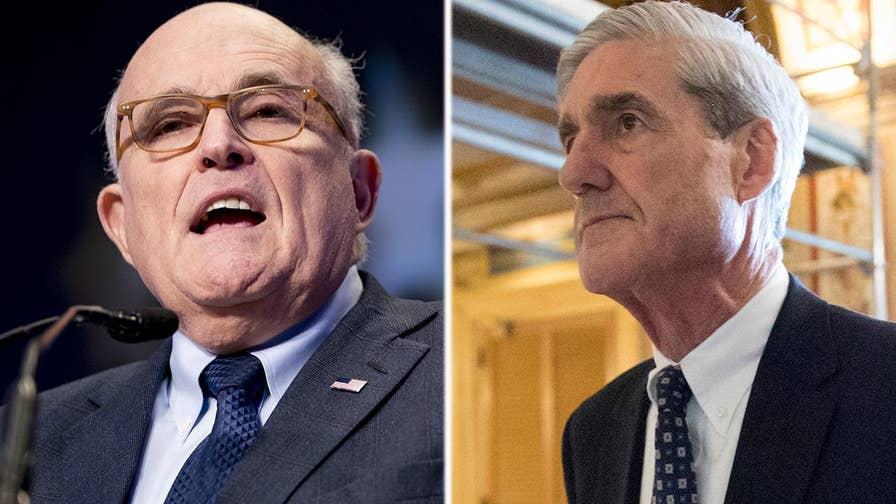 Rudy Giuliani's client, President Trump, has shown a willingness to speak to special counsel Robert Mueller; Garrett Tenney reports on Giuliani's stance on the issue.