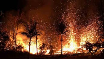 Hot lava is giving off poisonous gas in Hawaii.