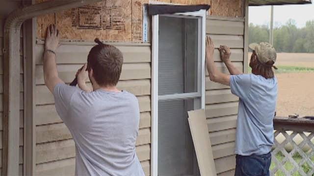 Non-profit helps veteran rebuild his home