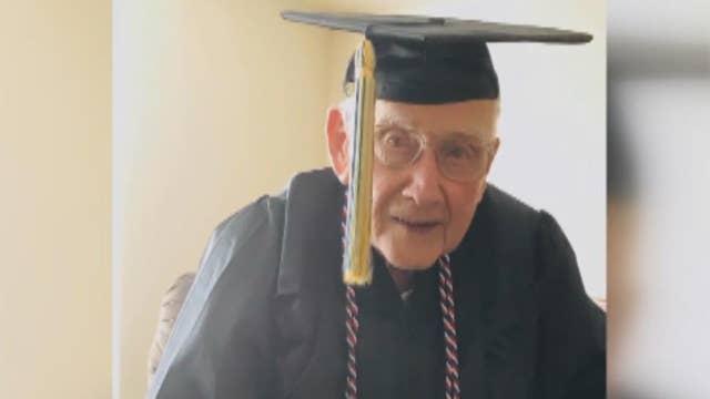 World War II veteran gets his degree