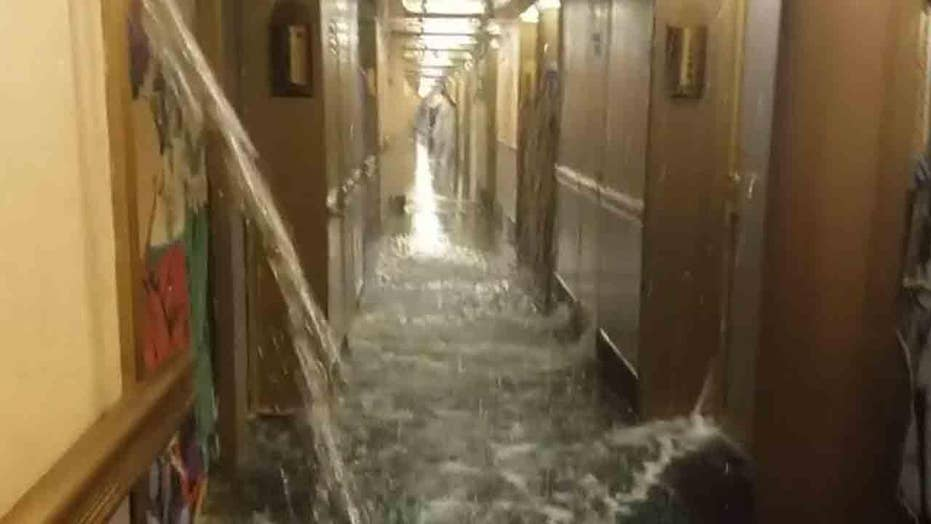 Cruise ship back in port after water floods staterooms