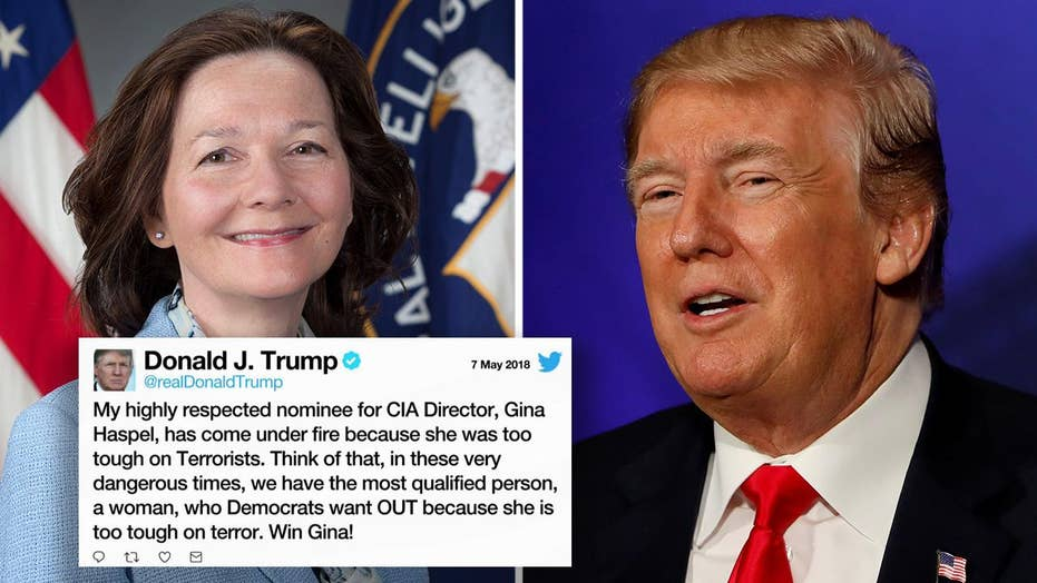 President Trump tweets support for CIA nominee Gina Haspel