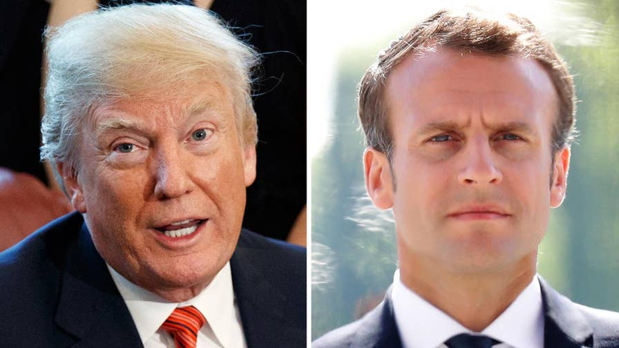 Trump administration official tells Fox News that President Trump did not tell French President Macron that the U.S. is withdrawing from the Iran nuclear deal; chief White House correspondent John Roberts reports.