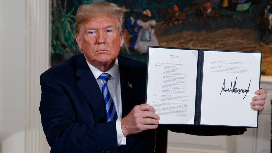 President Trump withdraws the U.S. from the 'defective' JCPOA and reinstates sanctions on Iran; reaction and analysis from the 'Special Report' All-Stars.