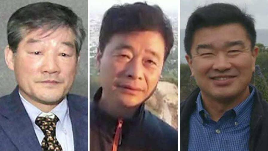2 men held since 2017, 1 since 2015 in North Korea.