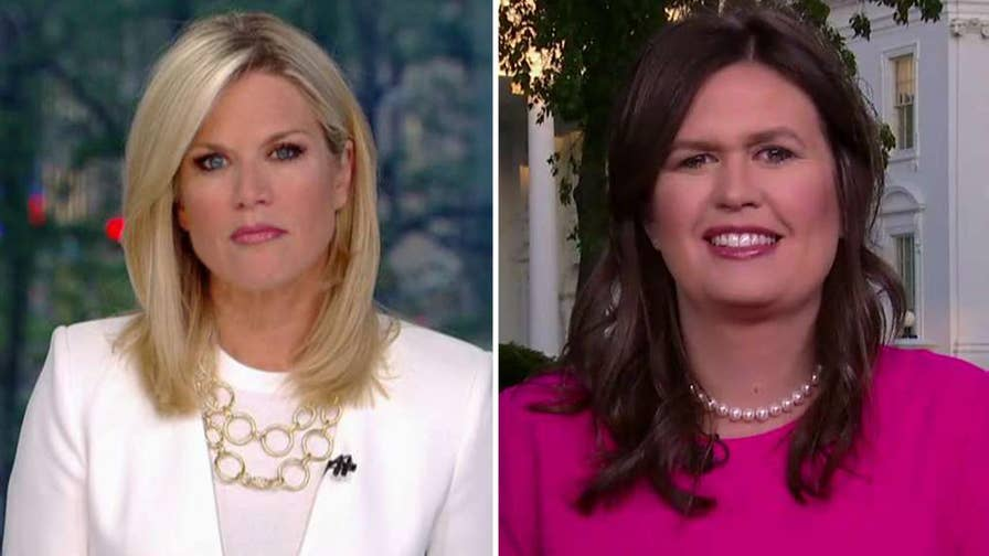 White House press secretary Sarah Sanders discusses New York Times' report about Pompeo being 'miles away' and Trump's decision to pull the U.S. out of the Iran deal on 'The Story.'