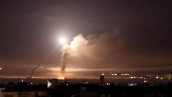 Israel fires missiles at Iranian targets in Syria following Iran's first direct rocket attack on Israeli soldiers. The conflict comes two days following Trump's exit from nuclear deal.