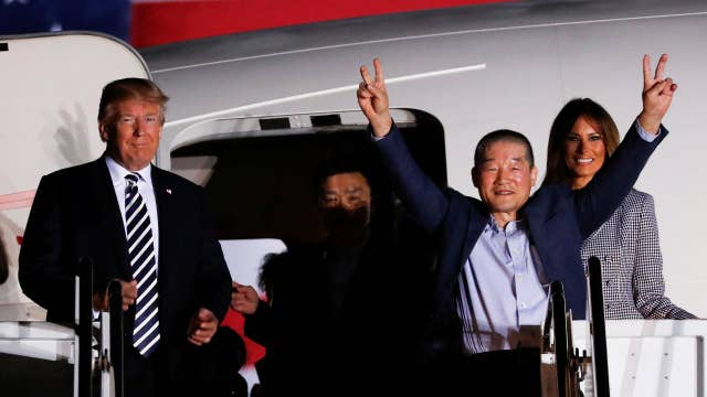 Freed North Korean prisoners arrive at Joint Base Andrews