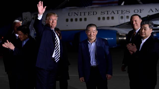 President Trump welcomes Americans freed by North Korea