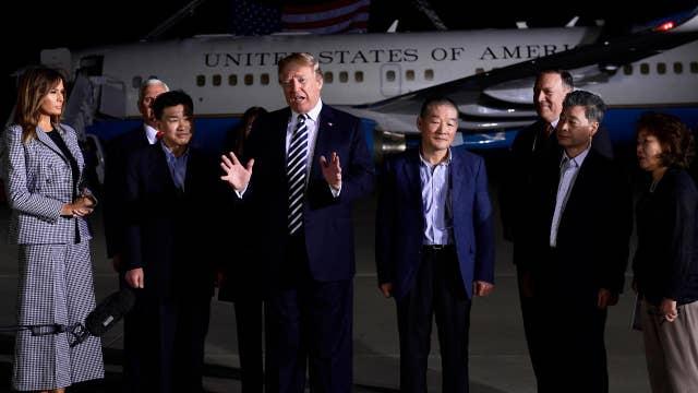 North Korea frees three American prisoners