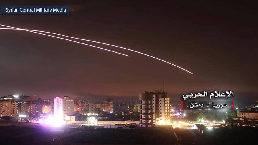 Russia said Israel used 28 warplanes to fire 60 air-to-surface missiles and 10 surface-to-surface missiles; national security correspondent Jennifer Griffin reports from the Pentagon.