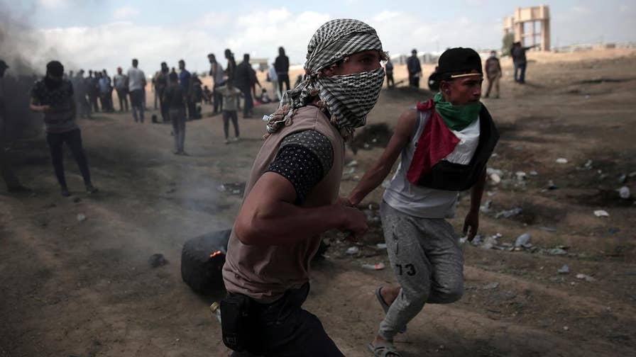 Palestinian demonstrators line up along Israel-Gaza border for seventh week in a row despite several warnings by Israel not to breach the fence; David Lee Miller reports from Israel.